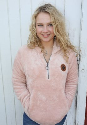 Pink Rose Fleece